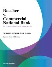 Roecher v. Commercial National Bank