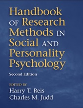 Handbook Of Research Methods In Social And Personality Psychology: Second Edition