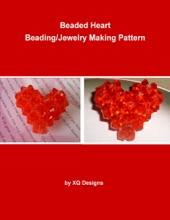 Beaded Heart Beading/Jewelry Making Pattern