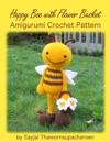 Happy Bee With Flower Basket