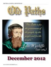 Old Paths December 2012