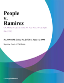 People V. Ramirez