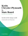 Krebs Chrysler-Plymouth V State Board