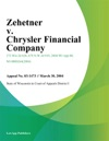 Zehetner V Chrysler Financial Company