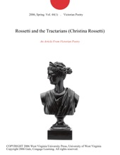 Rossetti And The Tractarians (Christina Rossetti)