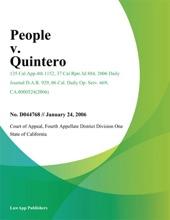 People V. Quintero
