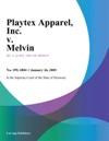Playtex Apparel Inc V Melvin