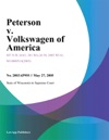 Peterson V Volkswagen Of America