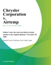 Chrysler Corporation V Airtemp