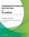 National Secretarial Service Inc V Froehlich