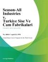 Season-All Industries V Turkiye Sise Ve Cam Fabrikalari