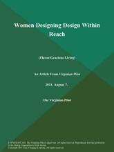 Women Designing Design Within Reach (Flavor/Gracious Living)