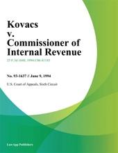 Kovacs v. Commissioner of Internal Revenue