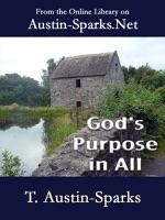 God's Purpose In All