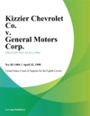 Kizzier Chevrolet Co V General Motors Corp