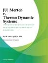 Merten V Thermo Dynamic Systems