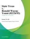 State Texas V Ronald Wayne Yount 022493