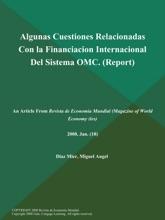 Algunas Cuestiones Relacionadas Con la Financiacion Internacional Del Sistema OMC (Report)