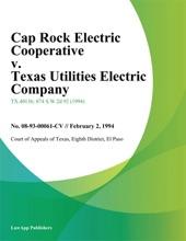Cap Rock Electric Cooperative v. Texas Utilities Electric Company