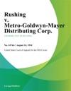 Rushing V Metro-Goldwyn-Mayer Distributing Corp