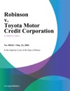 Robinson V Toyota Motor Credit Corporation