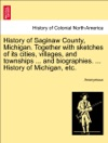 History Of Saginaw County Michigan Together With Sketches Of Its Cities Villages And Townships  And Biographies  History Of Michigan Etc