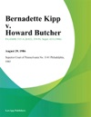 Bernadette Kipp V Howard Butcher