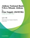 Abilene National Bank NKa Mbank Abilene V Fina Supply