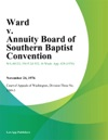 Ward V Annuity Board Of Southern Baptist Convention