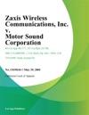 Zaxis Wireless Communications