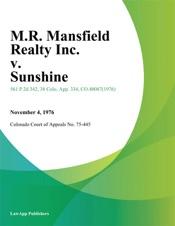Download M.R. Mansfield Realty Inc. v. Sunshine