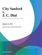 City Sanford v. J. C. Dial