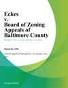 Eckes V Board Of Zoning Appeals Of Baltimore County