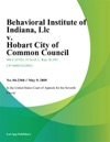 Behavioral Institute Of Indiana LLC V Hobart City Of Common Council