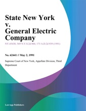 State New York V. General Electric Company