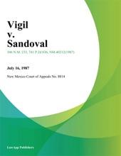 Vigil V. Sandoval