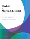 Hazlett V Martin Chevrolet