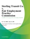 Sterling Transit Co V Fair Employment Practice Commission