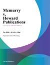 Mcmurry V Howard Publications