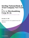 Sterling National Bank  Trust Company New York V I S A Merchandising Corp Et Al