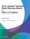 First Atlantic National Bank Daytona Beach V Olive S Cobbett