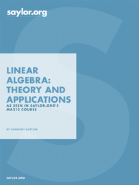 Linear Algebra: Theory and Applications book