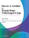 Steven A Swidler V World-Wide Volkswagen Corp