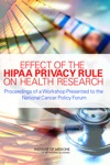 Effect Of The HIPAA Privacy Rule On Health Research