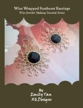 Wire Wrapped Sunburst Earrings