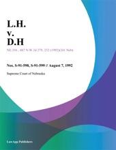 L.H. V. D.H.
