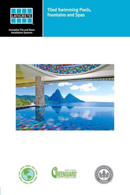 Tiled swimming pools fountains and spas technical design for Pool design book