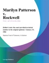 Marilyn Patterson V Rockwell