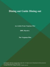 Dining Out Guide Dining Out