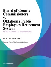 Board of County Commissioners v. Oklahoma Public Employees Retirement System